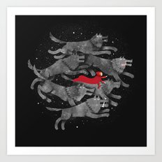 Run with the pack Art Print