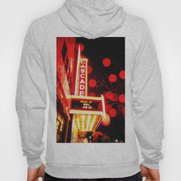 Rainy Night at the Theatre Market Street Redding California Hoody