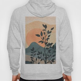 Orange Rising Sun Hoody