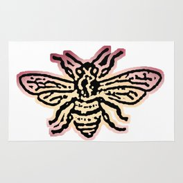 Save The Bees, Linocut - Sales Donated To NAPPC Rug