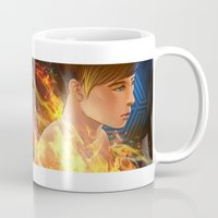 exo Mugs featuring EXO D.O flame by Rei Lydia