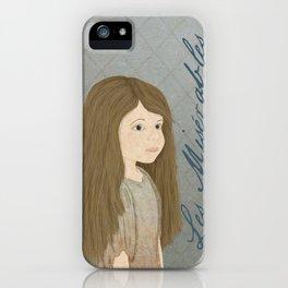 Portrait of Cosette from Les Misérables iPhone Case