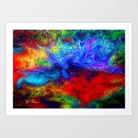 acid Art Prints featuring Acid by JT Digital Art