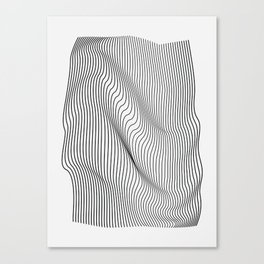 Minimal Curves Canvas Print