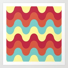 melting colors pattern Art Print