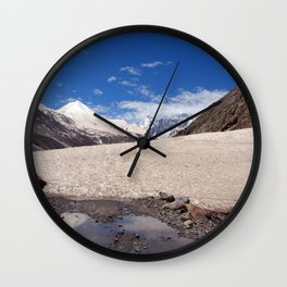 Snow in the Lahaul Valley Wall Clock