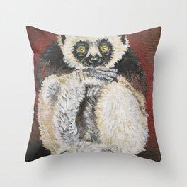 sifaka Throw Pillow