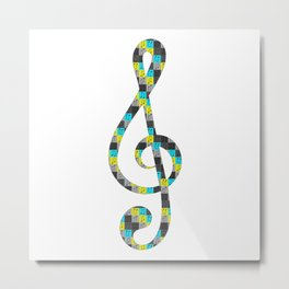 Musical repeating pattern No.4, Collection No.1 Metal Print