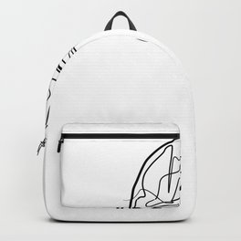 Construction Helmet - One Line Drawing Backpack