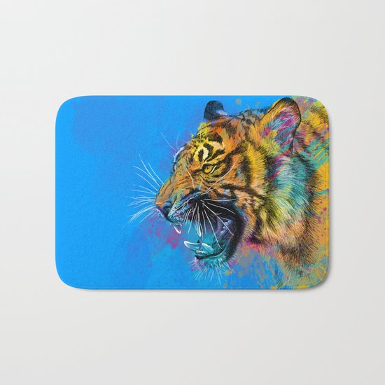 Angry Tiger Bath Mat
