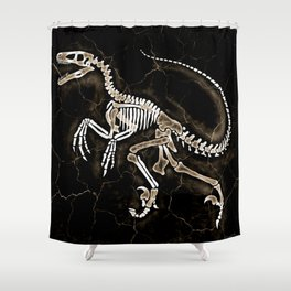 Dino Fossil 2 Shower Curtain