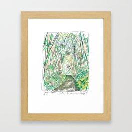 Bamboo Cathedral Sketch - San Marino CA Framed Art Print