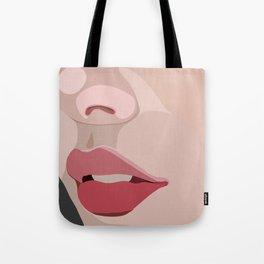 up close lips Tote Bag