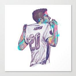 Real Madrid Asensio Canvas Print