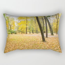 Yellow autumn park. Rectangular Pillow