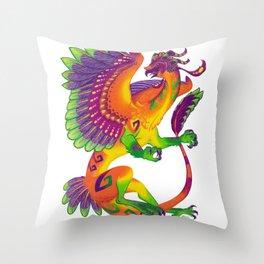 Oaxacan Barn Owl Dragon Throw Pillow