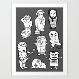 everyday heroes | version Art Print