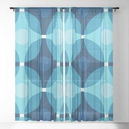 Blue Circles Sheer Curtain