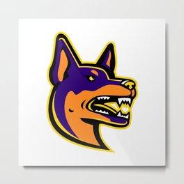 Australian Kelpie Dog Mascot Metal Print
