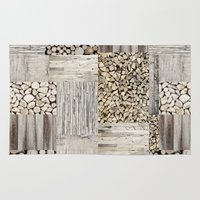 wood Area & Throw Rugs featuring Wood by LebensART