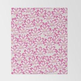 Lotus flower pattern Throw Blanket