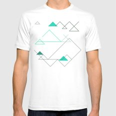 Tree Angle Green White Mens Fitted Tee MEDIUM