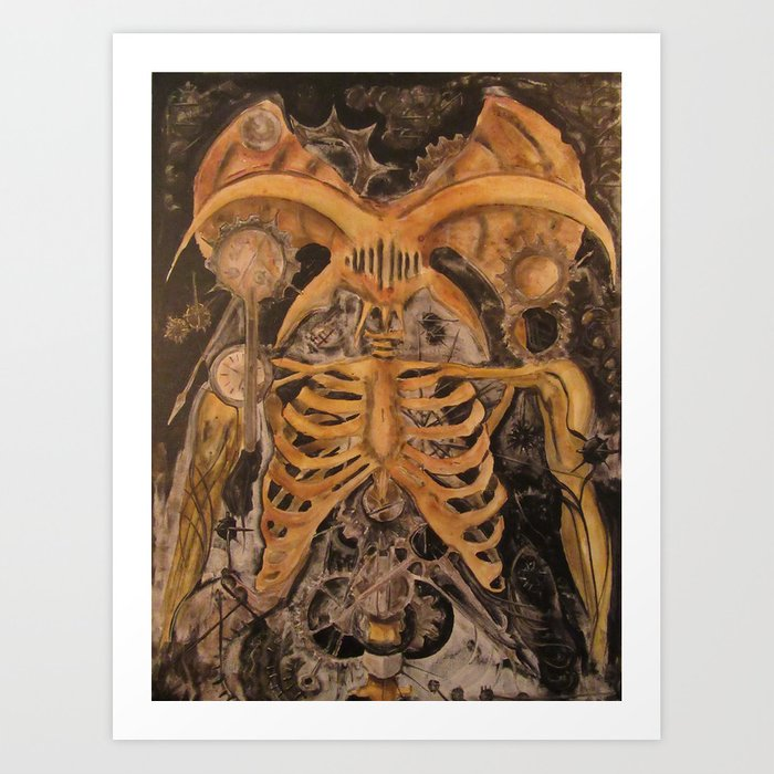 Clockwork Daemon Art Print