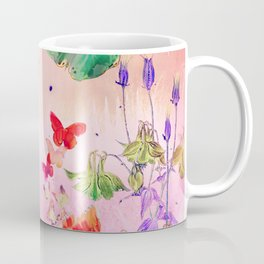 Blush Butterflies & Flowers Coffee Mug