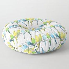 Row of Budgies Floor Pillow