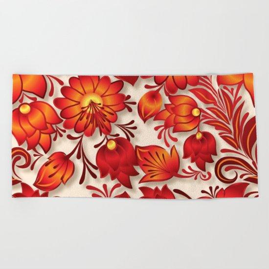 Shabby flowers #23 Beach Towel
