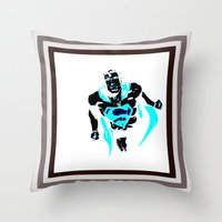 anonymous Throw Pillows featuring anonymous by Flo Zero