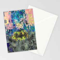Bat Type Man - Abstract Pop Art Comic Stationery Cards