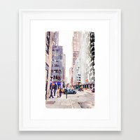 nyc Framed Art Prints featuring NYC by Christine Workman