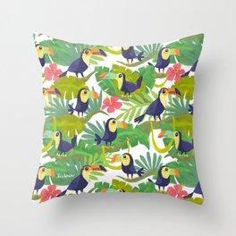 Toucan Paradise Pattern Throw Pillow
