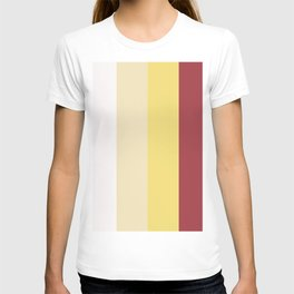 Color Combination. White, Vanilla Custard, Goldfinch, Scarlet Sage. Minimal Style. Solid Colors. T-shirt