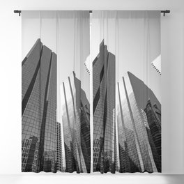 Calgary downtown Skyline in monochrome Blackout Curtain
