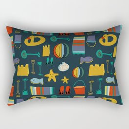 beach gear navy Rectangular Pillow
