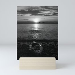 Kayak at Sunrise Mini Art Print