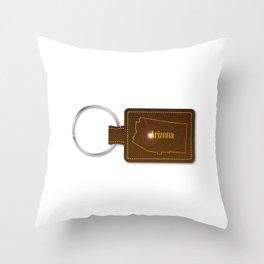 Arizona Leather Key Fob Throw Pillow