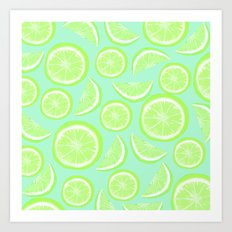 Simply Lime Mint Art Print