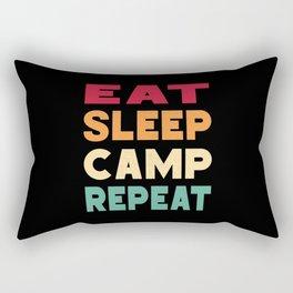 Eat Sleep Camp Repeat Camper Camping Campsite Rectangular Pillow