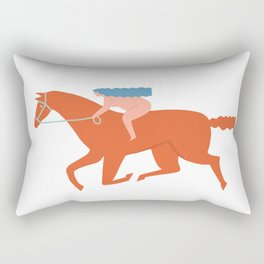 Naked derby Rectangular Pillow