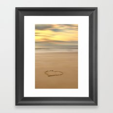 love on the beach Framed Art Print
