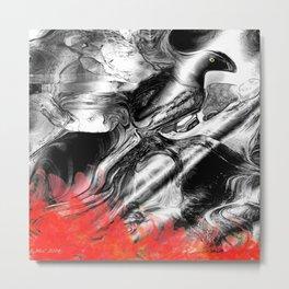 Abstract Fire Bird Metal Print