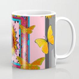 SOUTHWEST ART BUTTERFLIES SUNFLOWERS Coffee Mug