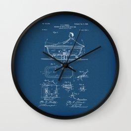 Rocking Oscillating Bathtub Patent Engineering Blueprint Wall Clock