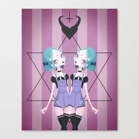 pastel goth Canvas Prints featuring Pastel Goth by Paz Huichaman
