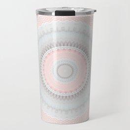 Shabby Chic Pink Poka Dot Mandala Travel Mug