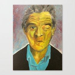 Yellow Robert De Niro Canvas Print