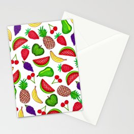 Tutti Fruity Hand Drawn Summer Mixed Fruit Stationery Cards
